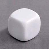 19mm Plain Dice round corners