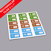 Custom Rectangle Game Tiles 2
