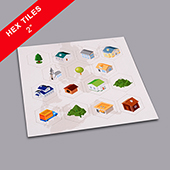 Custom Hexagon Game Tiles 2