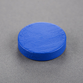 25x25x6mm Wooden Disc Blue