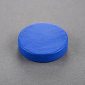 25x25x6mm Wooden Disc Blue