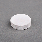 15x15x4mm Wooden Disc White