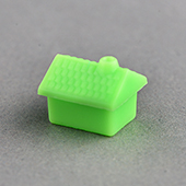 Tile plastic house Green