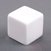 19mm Plain Dice staright corners