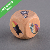 Custom Round Corner Wooden Dice 16mm