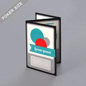Z-fold booklet for Poker size 2.5