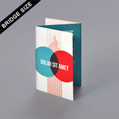 Z-fold booklet for Bridge size 2.25
