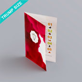 Bi-fold booklet for Trump size 2.45