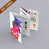 Accordion Booklet For Hex Card 3.25
