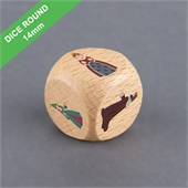 Custom Wooden Dice 14mm Round Corner