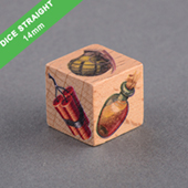 Custom Wooden Dice 14mm Straight Corner