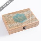 Custom Wooden Box For Double Deck UV Printing