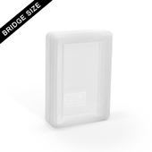 Hinged Plastic Box For 55 Bridge Size Playing Cards