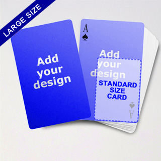 Large Playing Cards Series – Double Face Poker Cards