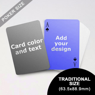 Simple Personalized Both Sided Playing Cards (63.5 X 88.9mm)