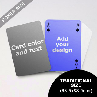 Simple Bridge Style Poker Size Personalized Both Sided Playing Cards (63.5 X 88.9mm)