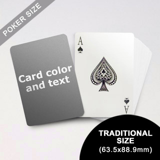 Classic Choice Poker With Custom Message (63.5 x 88.9mm)