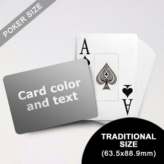 Jumbo Index Cards Poker Size With Custom Message (Landscape) (63.5 x 88.9mm)