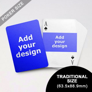 Landscape Photo Custom Font And Back Playing Cards (63.5 X 88.9mm)