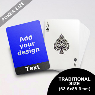 Cool Black Personalized Photo Playing Cards (63.5 x 88.9mm)