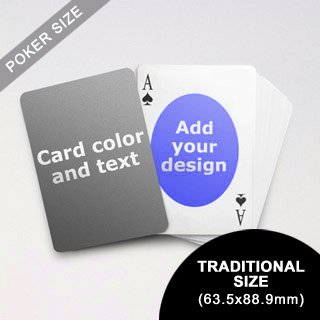 Ovate Personalized Both Sided Playing Cards (63.5 X 88.9mm)