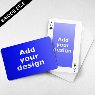 Bridge Size Playing Cards Rectangular Back, Wide Front
