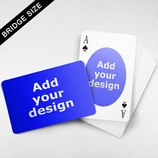 Bridge Size Playing Cards – Oval Back, Wide angled Front