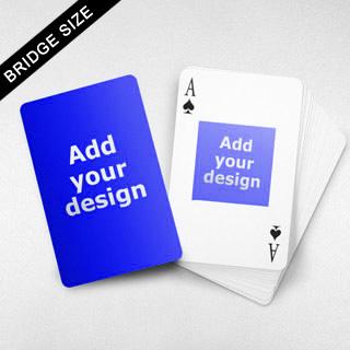 Bridge Size Playing Cards Square Back