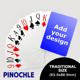 Pinochle Fun Classic Choice with Jumbo Index (63.5 x 88.9mm)