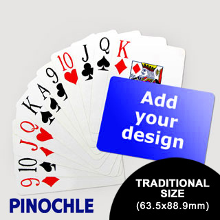 Pinochle Fun Classic Choice with Jumbo Index (Landscape) (63.5 x 88.9mm)