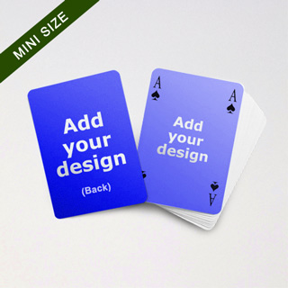 Mini Card Series – Double Faces Bridge Style Blank Car in Bleed Size