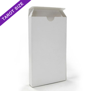 White tuck box for 78 tarot size cards