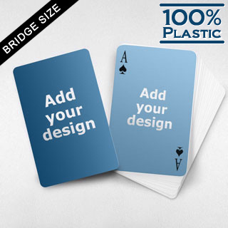 Custom Face and Back Plastic Bridge Cards