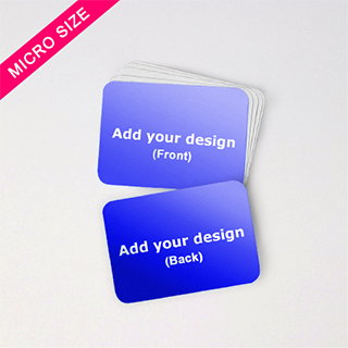 Horizontal Micro Deck Custom Blank Cards