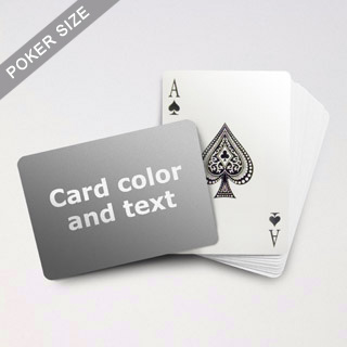 Classic Choice Poker With Custom Message (Landscape)