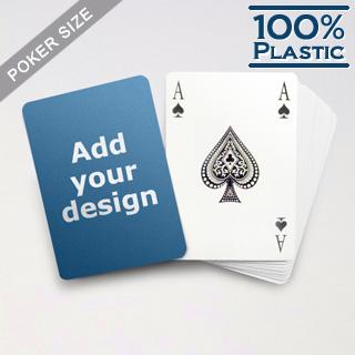 Custom Plastic Playing Cards Bridge Style