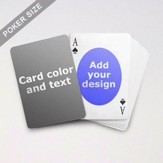 Ovate Personalized Both Sided Playing Cards