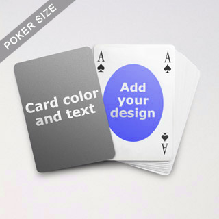 Ovate Bridge Style Poker Size Personalized Both Sided Playing Cards