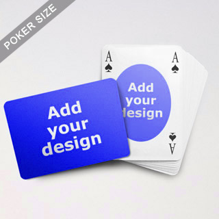 Ovate Bridge Style Poker Size Custom Front And Landscape Back Playing Cards