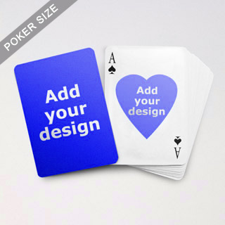 Heart to Heart Series Custom Front and Back Playing Cards