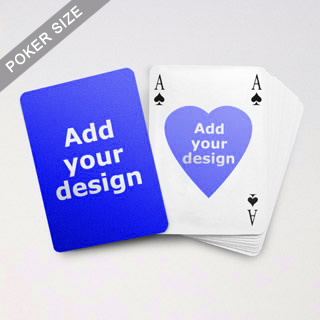 Heart to Heart Series – Custom Front and Back Playing Cards in Bridge Style
