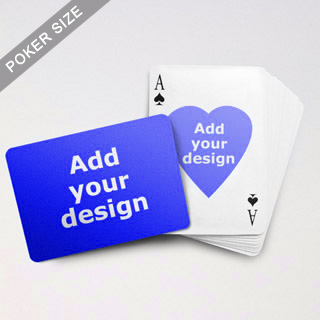 Heart To Heart Series Custom Front And Back Playing Cards (Landscape)