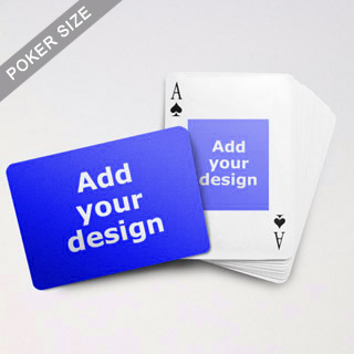 Centre Portrait Photo Custom Front And Landscape Back Playing Cards