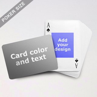 Centre Portrait Photo Personalized Both Sided Landscape Back Playing Cards