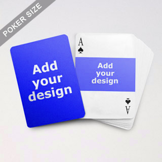 Landscape Photo Custom Font and Back Playing Cards