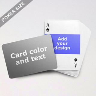 Landscape Photo Personalized Both Sided Horizontal Back Playing Cards