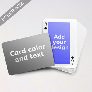 Classic Personalized Both Sided Landscape Back Playing Cards
