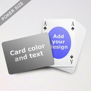 Ovate Bridge Style Poker Size Personalized Both Sided Landscape Back Playing Cards