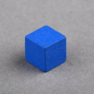 8mm Wooden Cube Blue