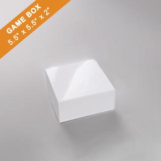 White Game Box 5.5x5.5x2